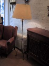 Gilt Wrought Iron Standing Lamp with Circular Table-top