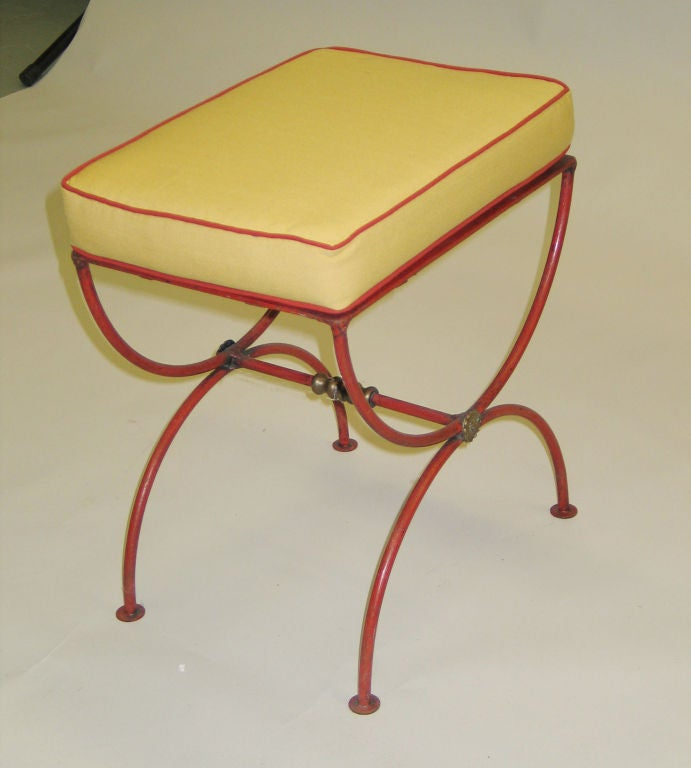 Pair of French 1930s Modern Neoclassical Stools by Jean-Charles Moreux 5