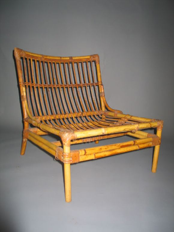Set Of 4 Rattan Chairs And 1 Table At 1stdibs