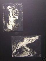 Pair of Expressionist Drawings by Hans Kessler