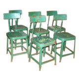 6 Metal Cafe / Garden Table Chairs