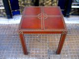Pair of Large Leather End Tables