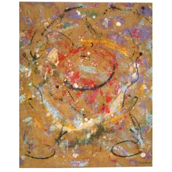 Flemish Mid-Century Abstract Expressionist Painting by A.C. Hermkens, 1961