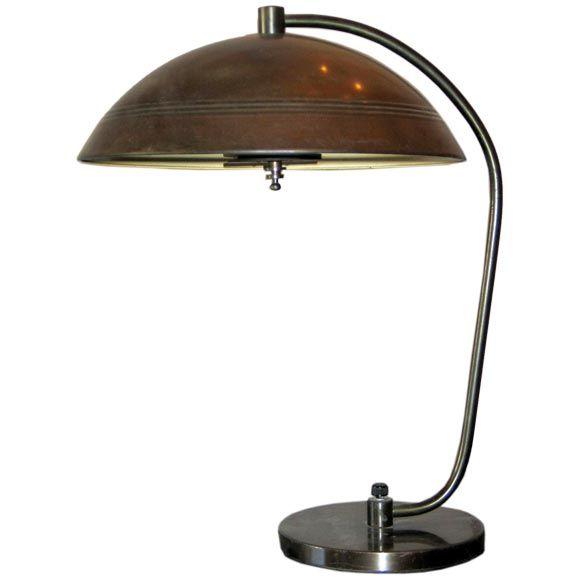 Model Elegant Petite Jacques Biny Desk Lamp At 1stdibs