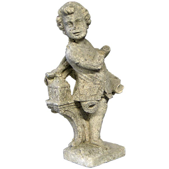 Late 19th Century French Romantic Garden Sculpture