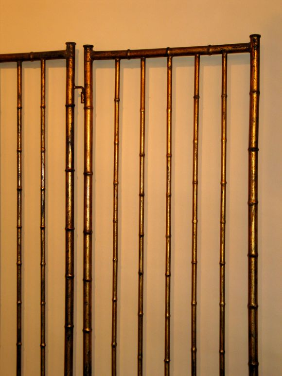 Large French Faux Bamboo Screen Attributed to Baguès 3