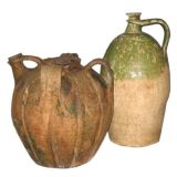 Two 18th Century French Oil Jars or Urns