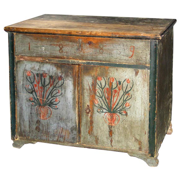 Antique italian painted buffet commode at 1stdibs for Italian painted furniture