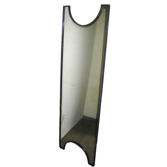 Elegant French 1930s Silvered Bronze Mirror 1