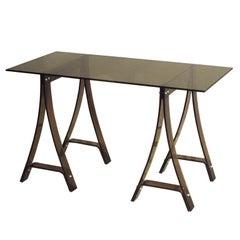 Italian Mid-Century Modern Desk or Console in Lucite & Glass Attr. Fontana Arte