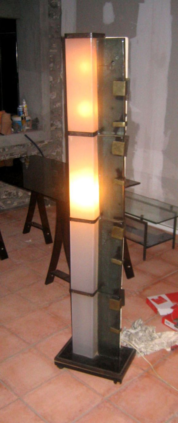 Rare Italian Murano Glass and Plexi-Glass Light Sculpture or Floor Lamp 3