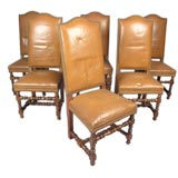 12 Classic Leather Dining Chairs