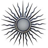 2 Large Sunburst Mirrors in the Style of Gilbert Poillerat