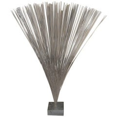 Harry Bertoia Spray Sculpture on Slate Base