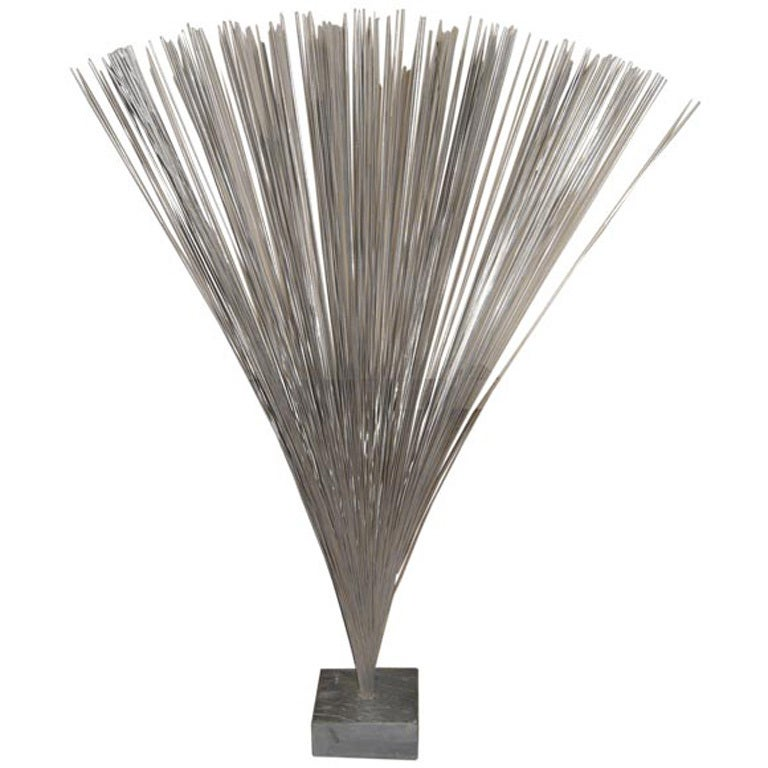 Harry Bertoia Spray Sculpture on Slate Base For Sale
