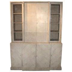 Samuel Marx Herringbone Parchment Cabinet