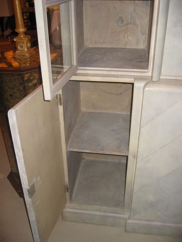 Samuel Marx Herringbone Parchment Cabinet 3