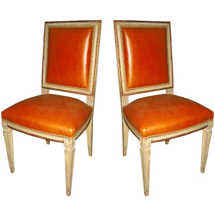 Chambre A Coucher Au Maroc : 10 Maison Jansen Regency Dining Chairs in Cognac Leather at 1stdibs