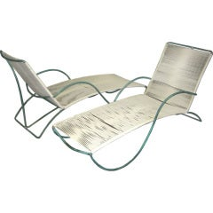 "Walter Lamb Bronze ""S"" Arm Chaise"