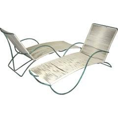 "Walter Lamb Bronze ""S"" Arm Chaise"