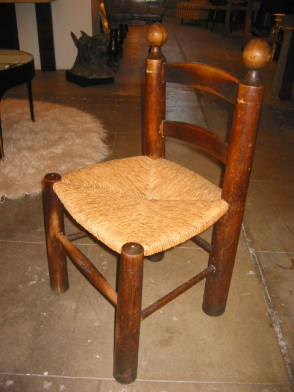 Mid-20th Century Set of 6 Chairs Attribute to Charlotte Perriand For Sale
