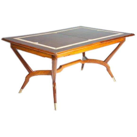 Fine Dining Room Tables: Italian 50s Fine Walnut Dining Table At 1stdibs