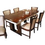 Italian 50s Parchment & Pallisander Dining Set