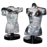 Pair of Murano Calcedonia Glass Limited Edition Busts