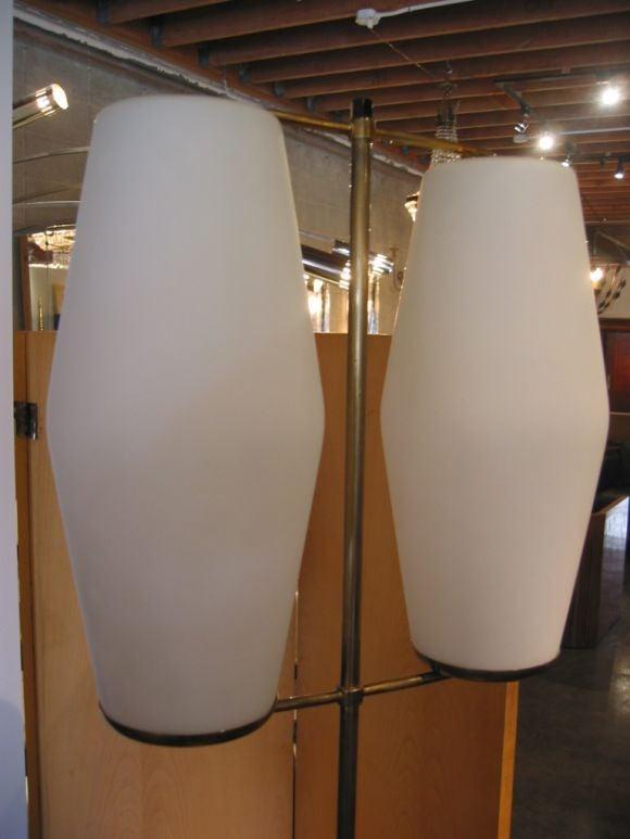 This pair of gerald thurston floor lamps is no longer available - Stilnovo 50s Italian Floor Lamp By Sciolari At 1stdibs
