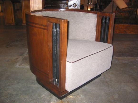 Italian Walnut Cruise Ship Chair For Sale 2