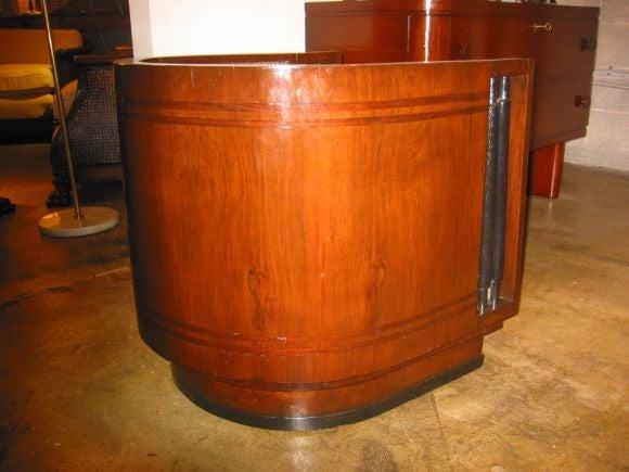 Italian Walnut Cruise Ship Chair For Sale 3