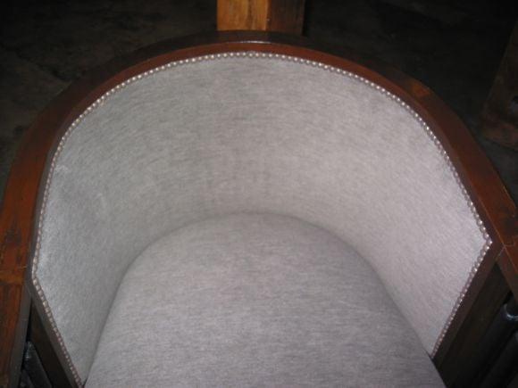 20th Century Italian Walnut Cruise Ship Chair For Sale