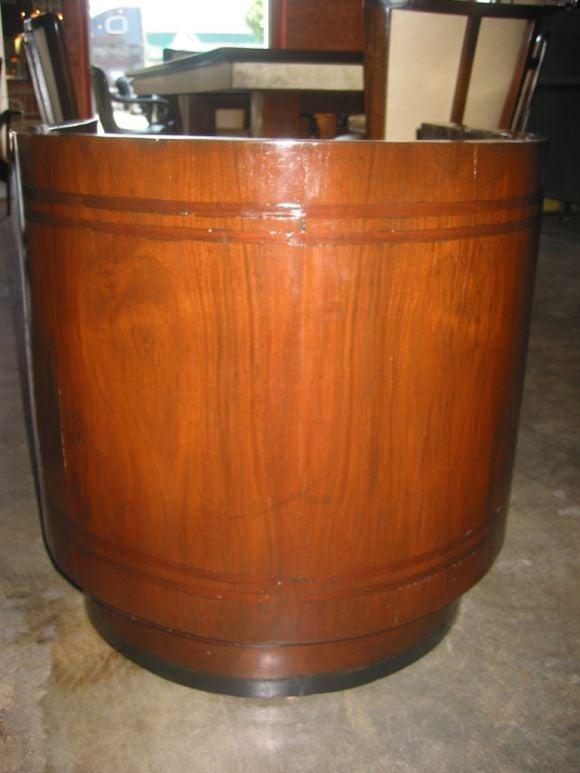 Italian Walnut Cruise Ship Chair For Sale 1