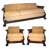 French Sofa and Pair of Armchairs
