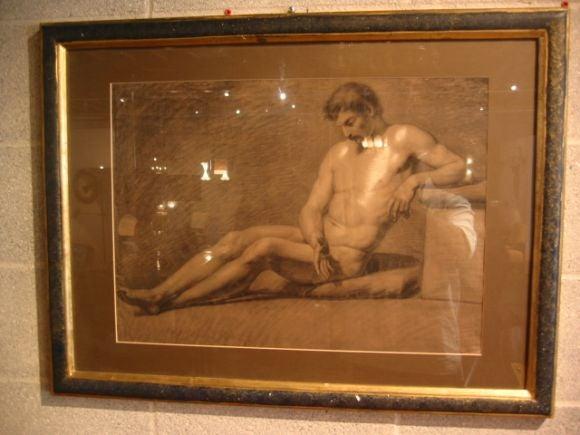 charcoal nude study