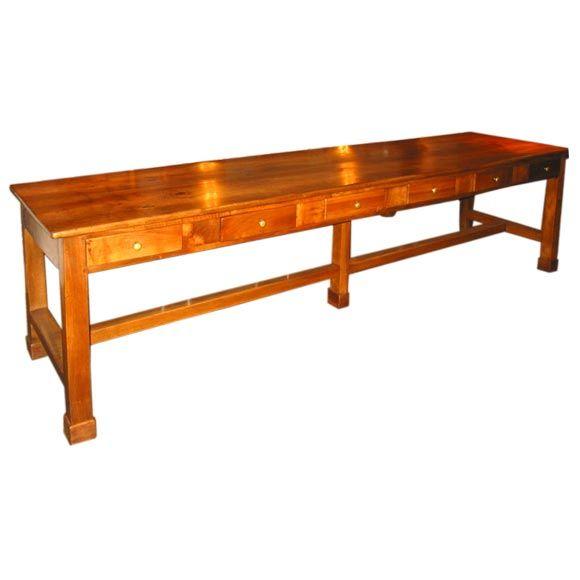 Italian 19th c walnut monastery dining table at 1stdibs for Monastery extension dining table