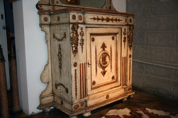 Venitian 19th Century Cabinet with Mirror 3
