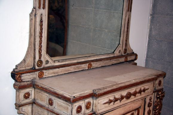 Venitian 19th Century Cabinet with Mirror 4