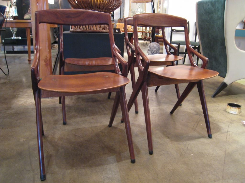 S italian wood chairs at stdibs