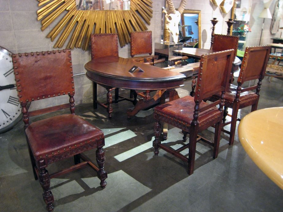 set of 6 spanish dining chairs at 1stdibs