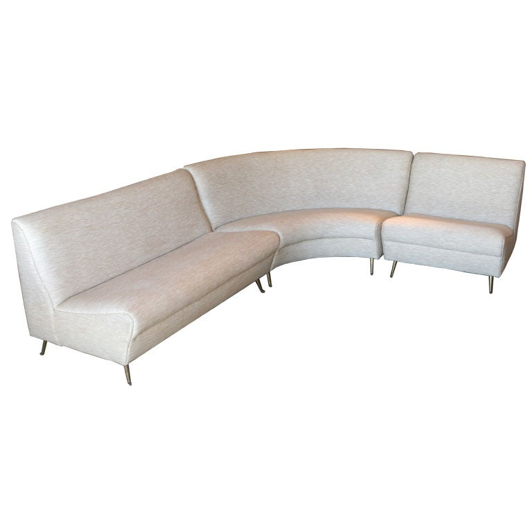 Italian 60s sectional sofa at 1stdibs for 60s sectional sofa