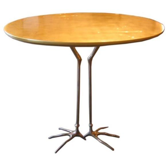 Quot Traccia Quot Gold Leaf Bird Leg Table By Meret Oppenheim At