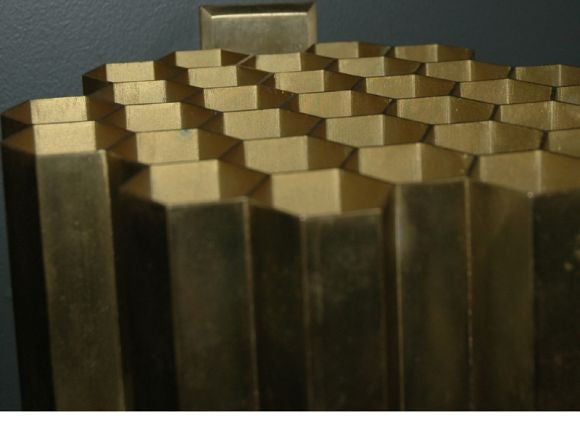 Honeycomb sconces, pair<br /> designer:<br /> Jules Wabbes<br /> year: c.1953<br /> manufacturer:<br /> Laiton, Belgium