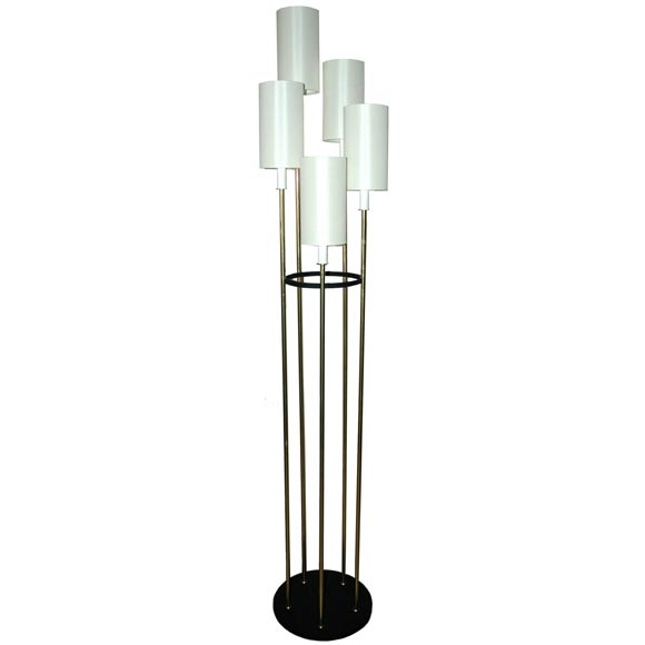 Raymor multi arm floor lamp at 1stdibs for Multi spotlight floor lamp