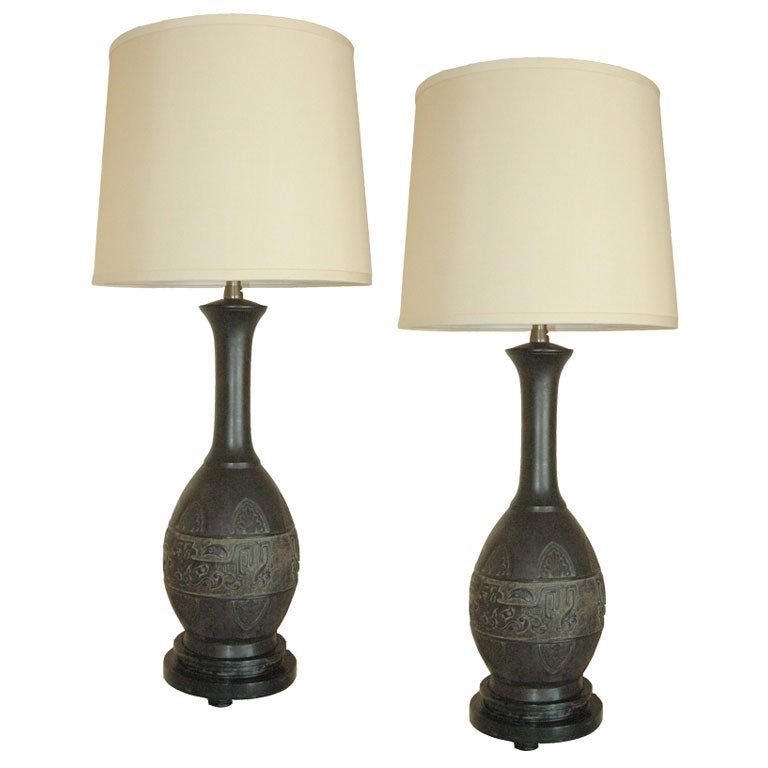 this pair of bronze marbro table lamps is no longer available. Black Bedroom Furniture Sets. Home Design Ideas