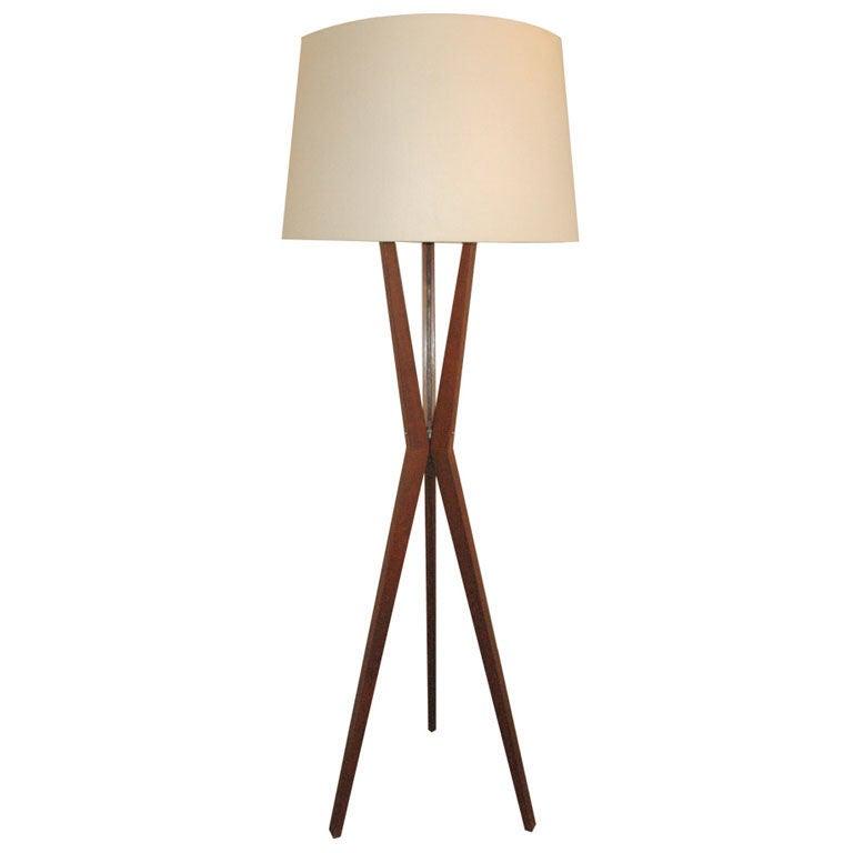 Three Leg Floor Lamp At 1stdibs