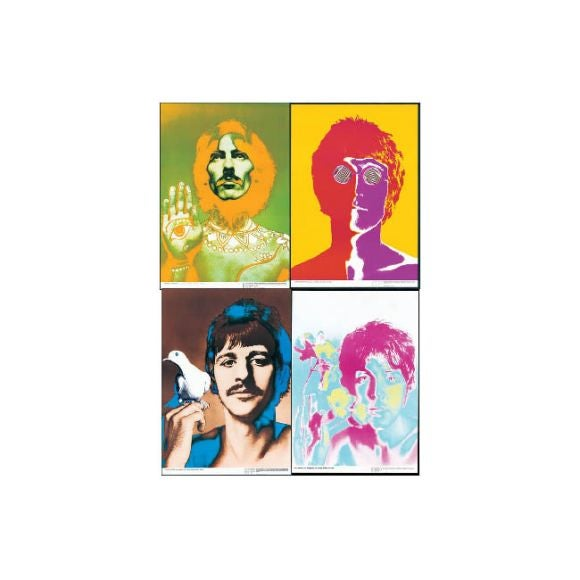 Set of 4 Vintage Beatles Posters