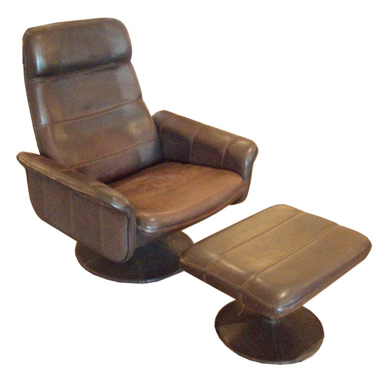 de sede leather chair and ottoman at 1stdibs