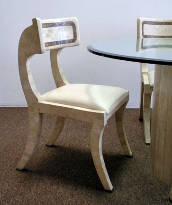 Stone Dining Table and Six Chairs by Maitland Smith at 1stdibs : stone1 from www.1stdibs.com size 580 x 690 jpeg 51kB
