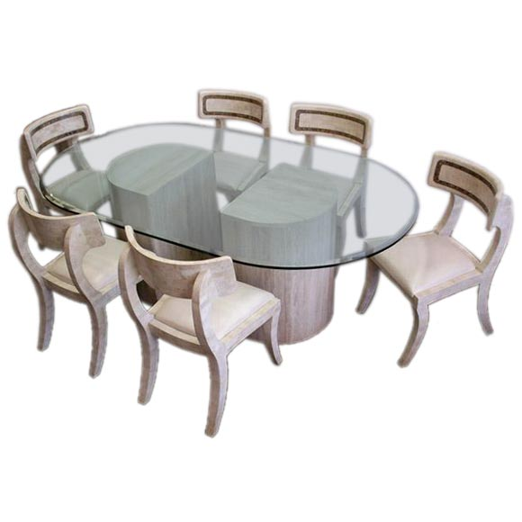 Stone Dining Table and Six Chairs by Maitland Smith at 1stdibs : stone8 from www.1stdibs.com size 580 x 580 jpeg 25kB